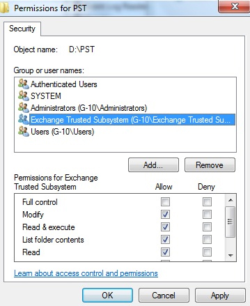 Export Bulk PST's for all Disabled users Mailboxes