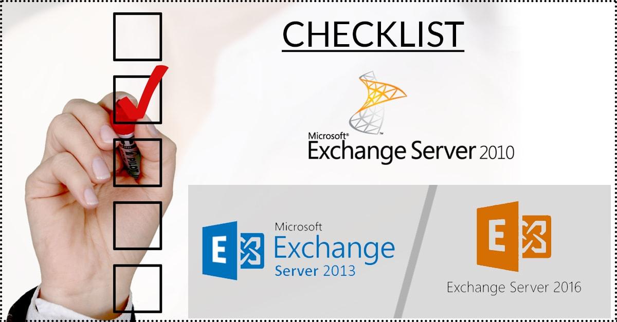 10 Exchange Server Migration Checklist From Exchange 2010 to