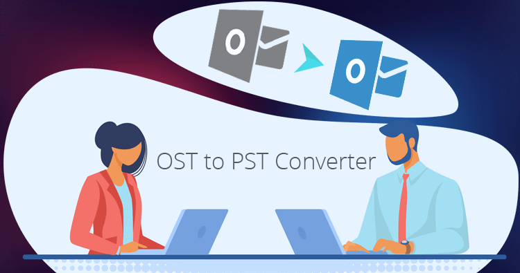Export Exchange OST to Outlook PST files with the help of OST to PST Converter