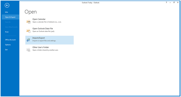 Outlook Native Import-Export-1