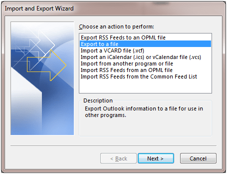 Outlook Native Import-Export-2
