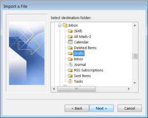 Manual way to convert NSF to PST - Step6