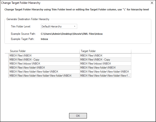 Export MBOX files to PST-05