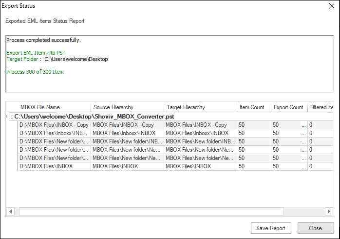 Export MBOX files to PST-06