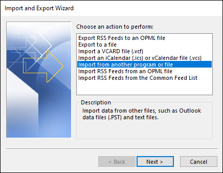 Export MBOX files to PST-09