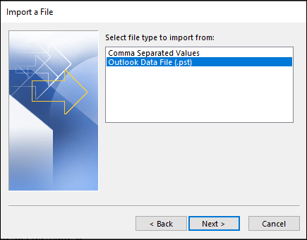 Export MBOX files to PST-10