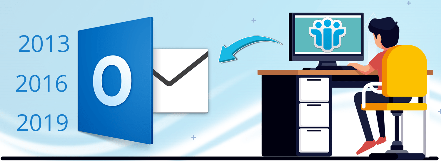 Cover The efficient way to Import Lotus Notes to Outlook 2019-2016-2013