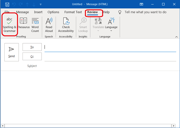 Outlook Spell Check Not Working Error -02