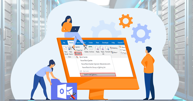 Recover deleted junk emails of Outlook