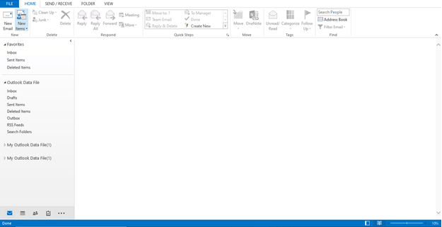 How to create PST file in Outlook new 1