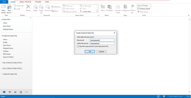 How to create PST file in Outlook new 4