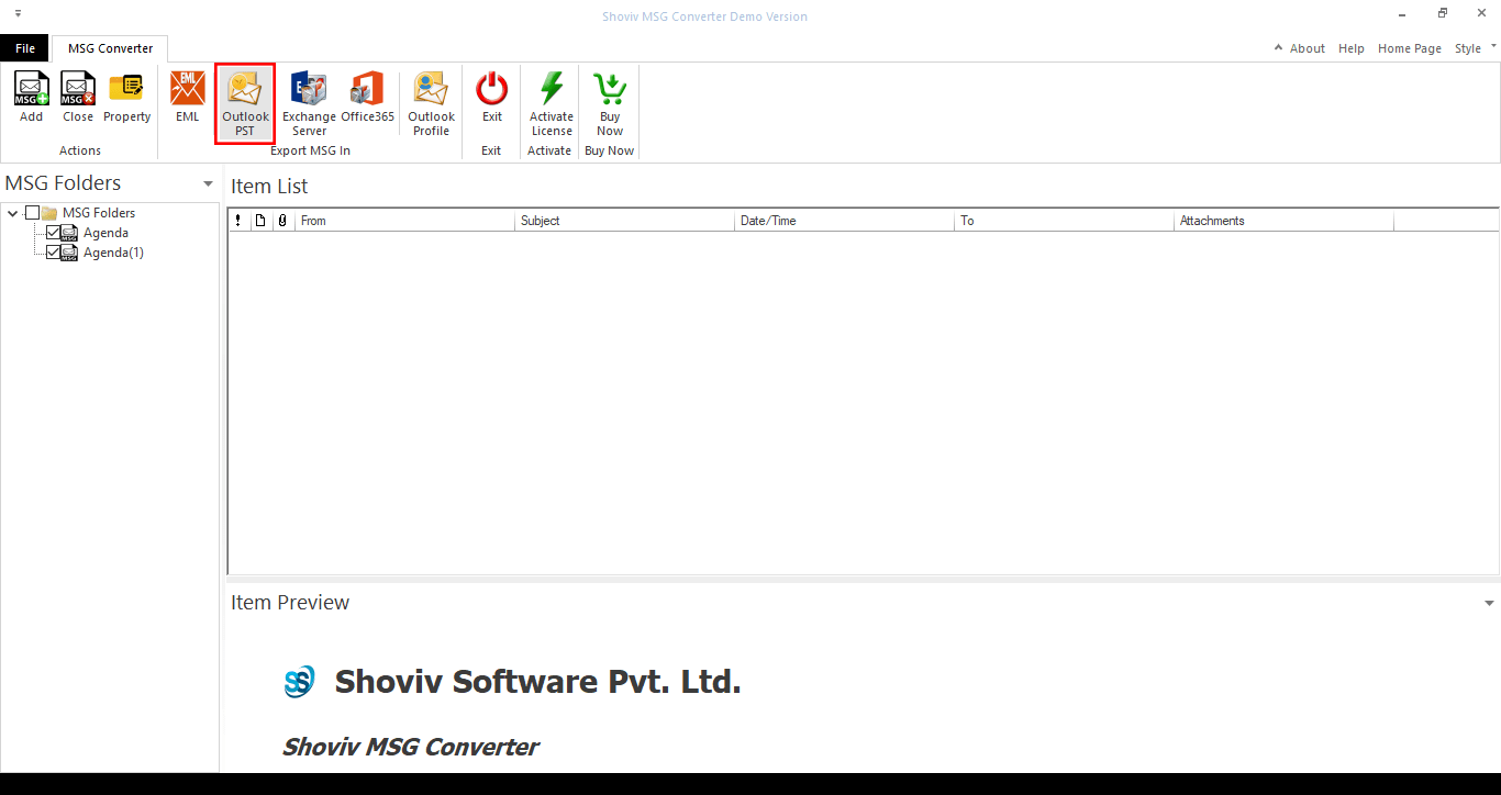 Two Free Methods to Convert MSG to PST File-03