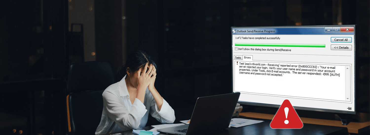 How to Fix Outlook Error 0x800ccc92?