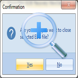 "After Click on ""Yes"" button All Checked EDB files will be closed from the software"