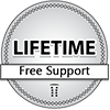 Full licence and lifetime free support