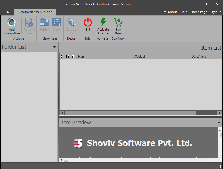 GroupWise to PST Converter Software