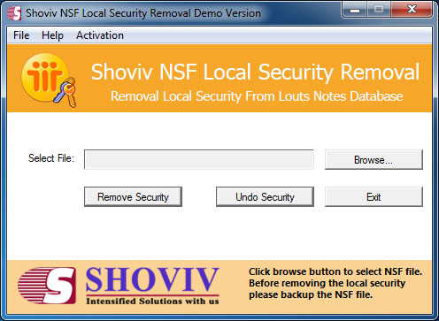 NSF Local Security Removal screenshot