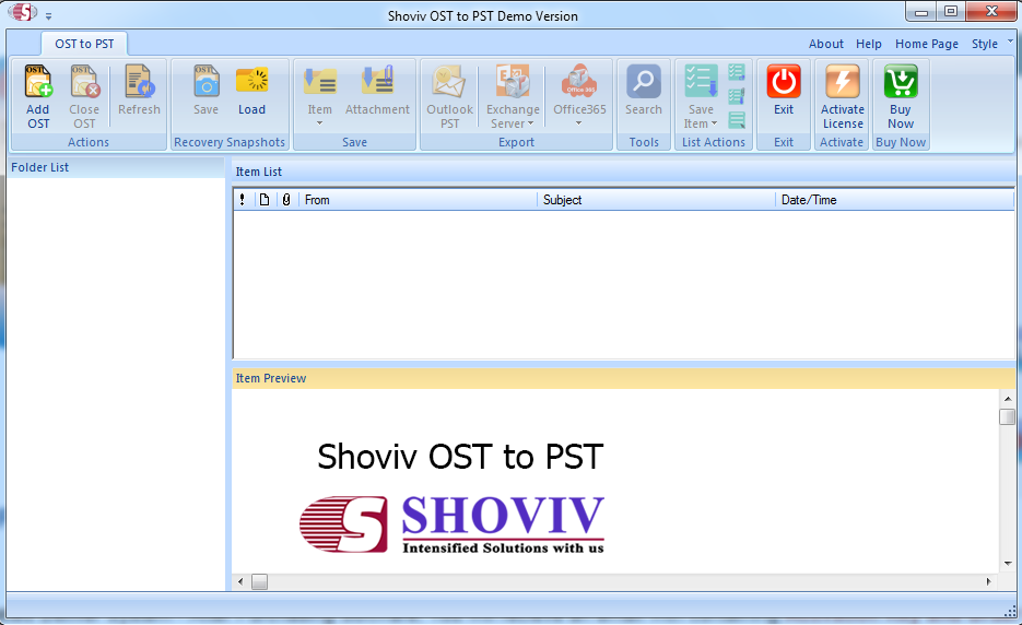 Shoviv Exchange OST Recovery Software