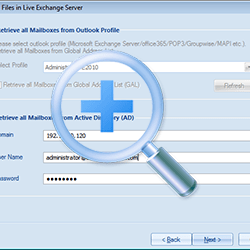 Retrieve All Mailboxes from Active Directory(AD).