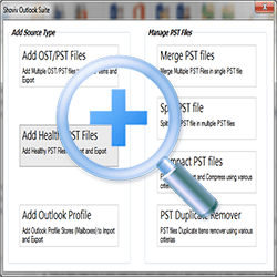 Add Healthy PST Files