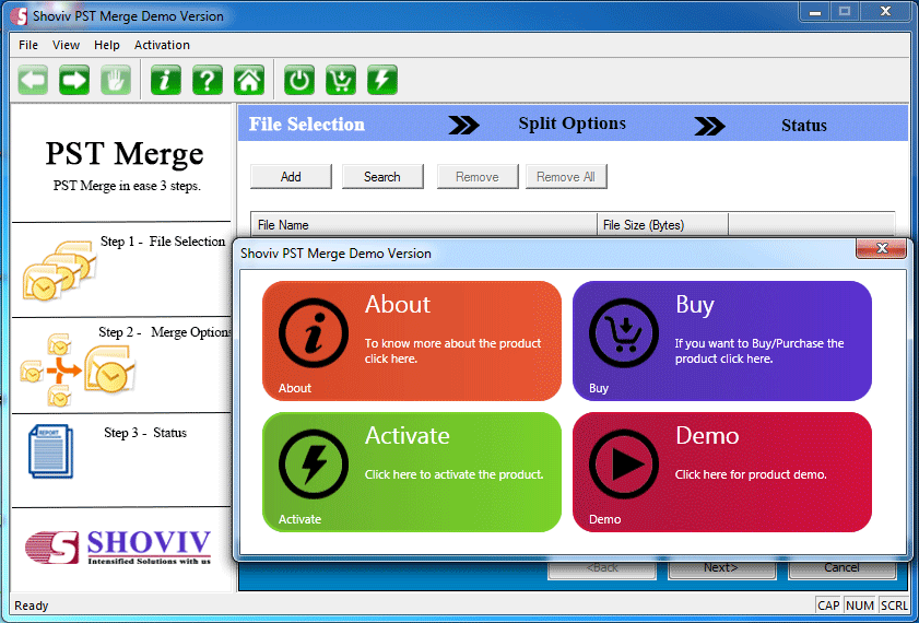 Click to view Shoviv PST Merge 17.10.0.0 screenshot